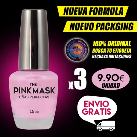 The Pink Mask - Perfect nails Pack x 3