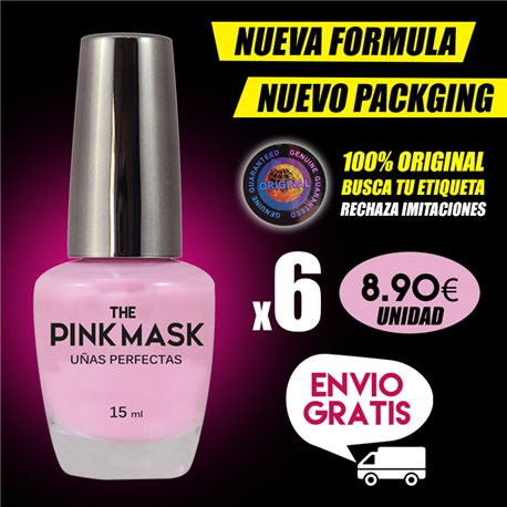The Pink Mask - Perfect nails Pack x 6