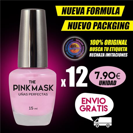 The Pink Mask - Uñas Perfectas Pack x 12